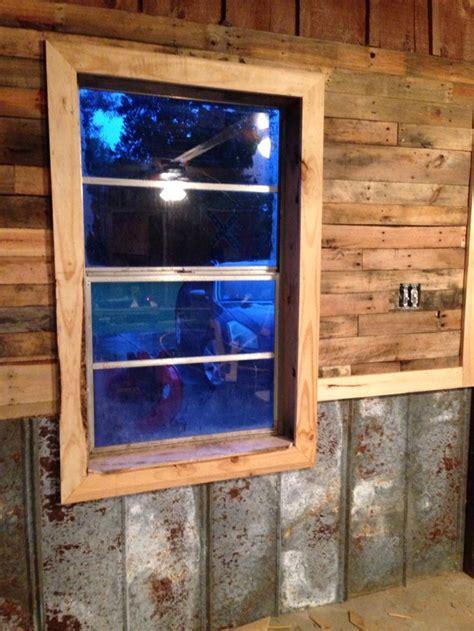 pallet walls tin chair rail cedar accent white pine