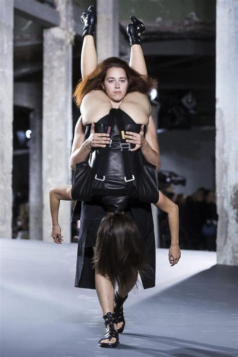 fashion designer rick owens latest craze models wearing