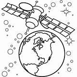 Coloring Satellite Spaceship Satelite Drawings Netart Designlooter 93kb 600px sketch template