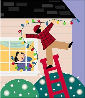 safe christmas lights onsafety ladder safety 101