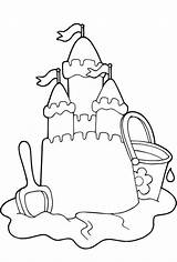 Coloring Sand Castle Sandcastle Pages Printable Preschool Sandbox Beach Summer Sheets Template Fun Castles Sheet Drawing Elegant Templates Coloringpagebase Sculpture sketch template