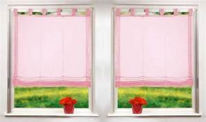 Gardinen Kinderzimmer Rosa : gardinen set 2 teile raffrollo mit schlaufen ebay ~ Orissabook.com Haus und Dekorationen
