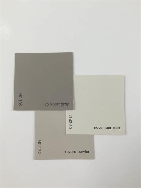 rockport gray hc  revere pewter hc  november rain   paint colors  home