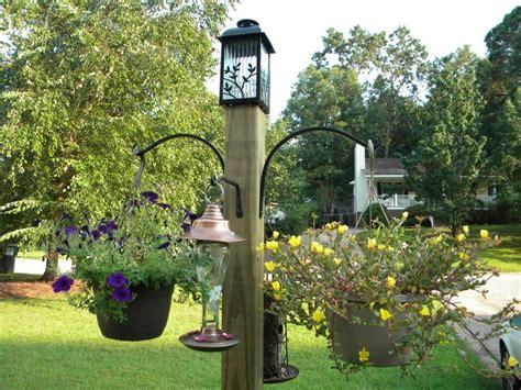 diy bird feeder pole diy freestanding bird feeder hanging flower plant basket