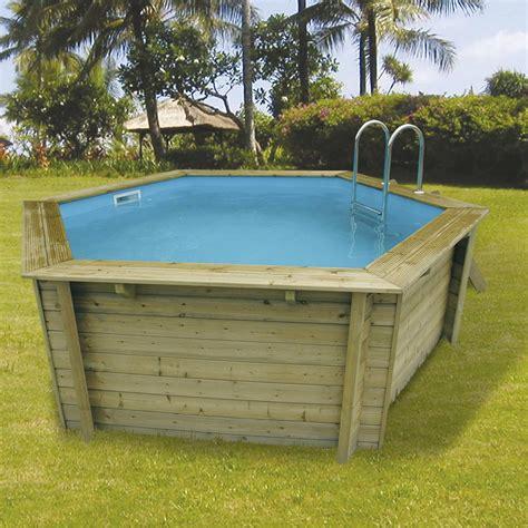 piscine hors sol bois hawaii l 4 1 x l 4 1 x h 1 2 m leroy merlin