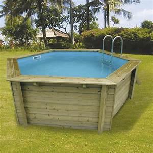 Piscine Hors Sol Bois Hawaii L41 X L41 X H12 M