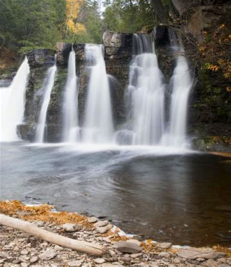 waterfall beauty  michigans upper peninsula midwest