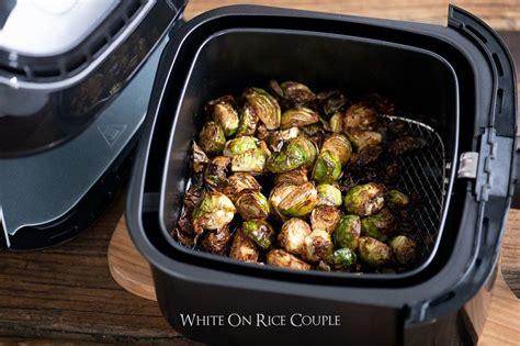 recipe sprouts air fryer brussel brussels balsamic crispy whiteonricecouple vinegar paleo
