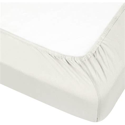 kushies organic jersey fitted crib sheet off white