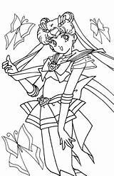 Sailor Moon Coloring Pages Drawing Printable Sailormoon Anime Tsuki Matsuri Crystal Sailors Books Moons Cartoon sketch template