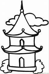 Temple Buddhist Coloring Drawing Buddha Pages Chinese Buddhism Japanese Pagoda Printable Easy Simple Google Sketch Religions Template Supercoloring Result 2009 sketch template
