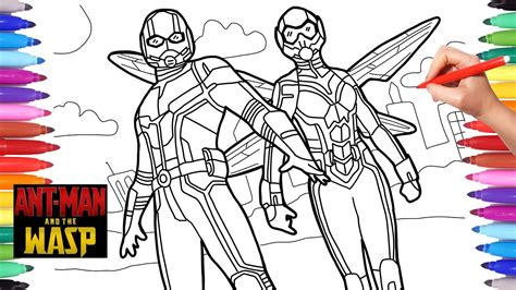 antman and the wasp coloring pages how to draw antman and
