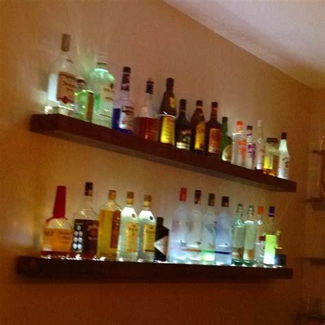 Lighted bar shelves   Bar Ideas   Pinterest   Shelf ideas
