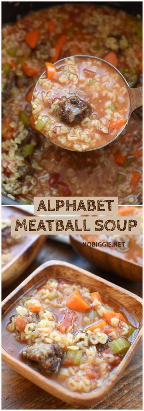 Packed with flavor and made with the convenience of the slow cooker, this sweet and savory soup is good for the soul! Alphabet Meatball Soup | Recipe | Fun pasta, Soup recipes ...