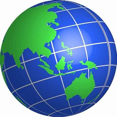 Globe Clipart Oceania Clip Indonesia Transparent Cliparts