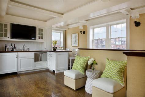 Wet Bar Design-cottage-living Room-kate Coughlin