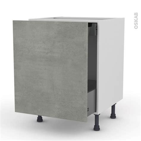 tiroir coulissant meuble cuisine meuble de cuisine bas coulissant fakto béton 1 porte 1