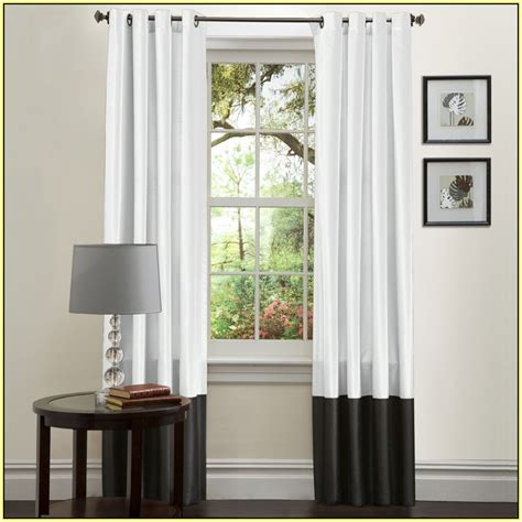 two tone curtains home design ideas