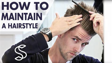 maintain  hairstyle undercut  volume mens