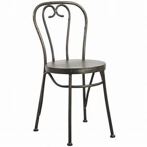 Chaise Bistrot Metal : chaise bistrot en m tal noir antique mch1510 aubry gaspard ~ Teatrodelosmanantiales.com Idées de Décoration