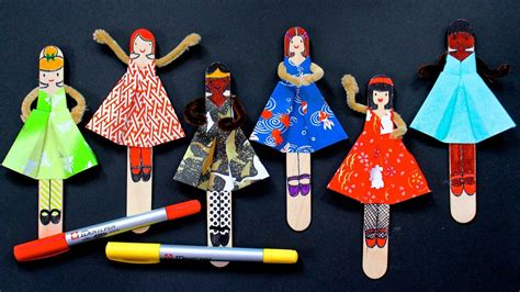diy posable origami dolls   printable youtube