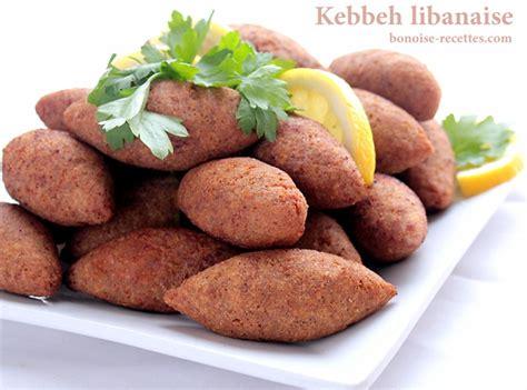 recettes cuisine libanaise kebbeh ou kebbe entree libanaise