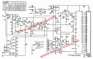 digital multimeter circuit using icl7107 With circuit diagram a
