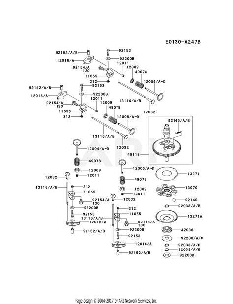 kawasaki frv bs  stroke engine frv parts diagram