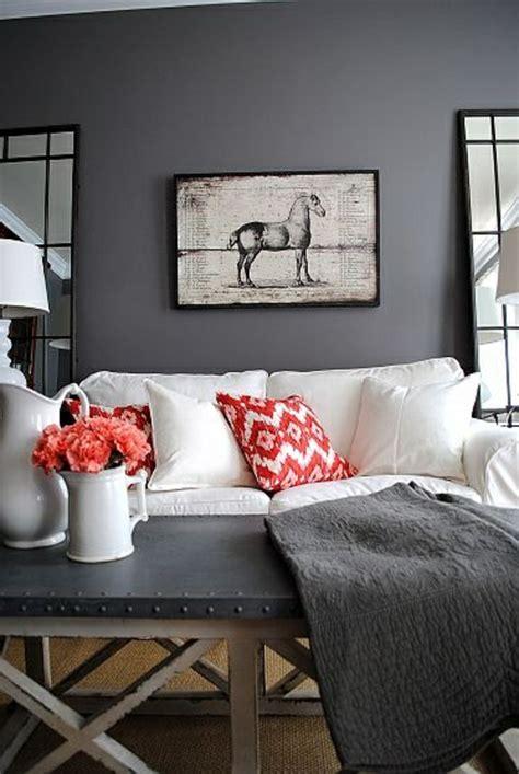 Wohnzimmer Rot Grau by 50 Tipps Und Wohnideen F 252 R Wohnzimmer Farben