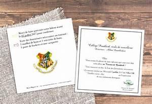 Deco Harry Potter Anniversaire : id es et carte d 39 invitation pour un anniversaire harry potter ~ Melissatoandfro.com Idées de Décoration