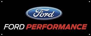 """Ford Performance Logo Banner 60""""x24"""" - SVT Store"""