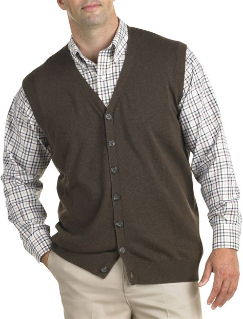 mens sweater vest oak hill button front sweater vest casual xl big