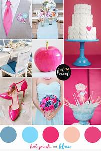 Blue and hot pink wedding colors