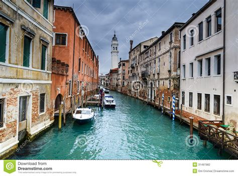 Venice Water Channel In Italy Stock Photography Image