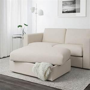 Ikea Vimle Erfahrung : vimle footstool with storage gunnared beige ikea ~ Watch28wear.com Haus und Dekorationen