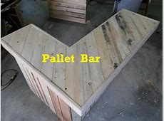 Terry in the Garage, Pallet Bar, Part 1 YouTube