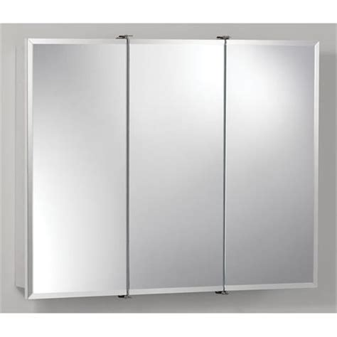 nutone 755280 30 quot tri view frameless wood medicine cabinet