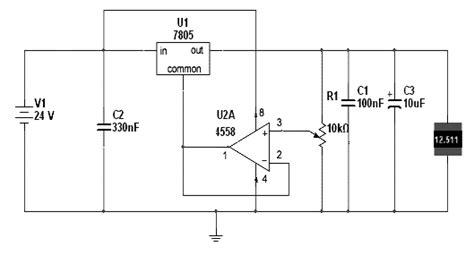 Adjustable Voltage Source Regulator Integrated Circuit