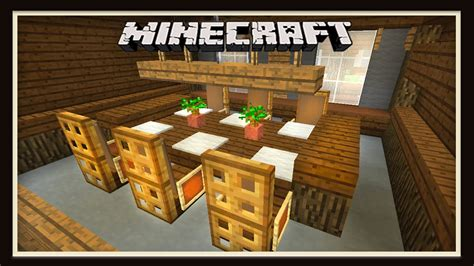 Kitchen Ideas For Minecraft - minecraft dining room furniture design how to build a house part 8 youtube