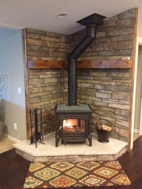 corner wood stove houzz