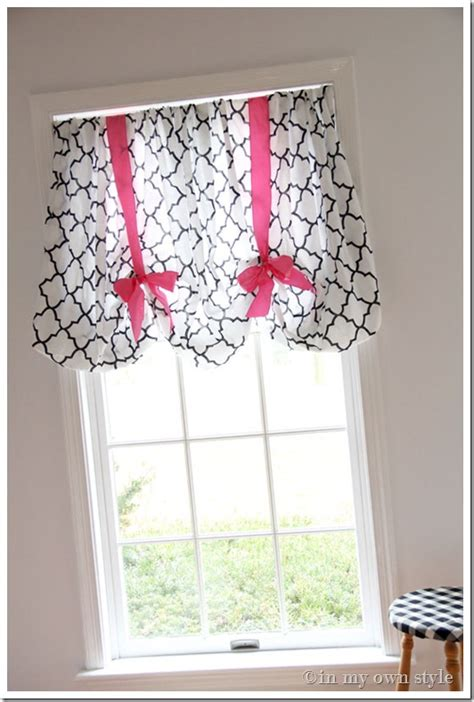 in an instant no sew window treatment in my own style