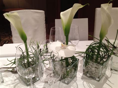 tischdekoration tabledecoration flowers callas white