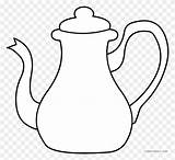 Teapot Coloring Tea Template Pot Clipart Kettle Sheets Alice Clip Pages Printable Silhouette Templates sketch template