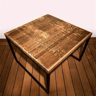 Resin Table Wood Coffee Map Tables Furniture