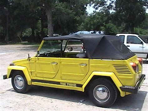 volkswagen thing yellow the volkswagen thing vw 181 thing kübel pinterest