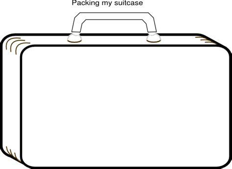 colorless suitcase clip art  clkercom vector clip art