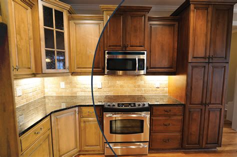 how to stain oak cabinets our kitchen reno with n hance
