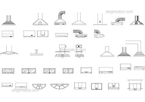 Kitchen hood DWG, free CAD Blocks download