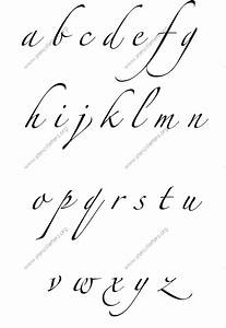cursive writing small letters a to z free printable With handwriting stencils letters