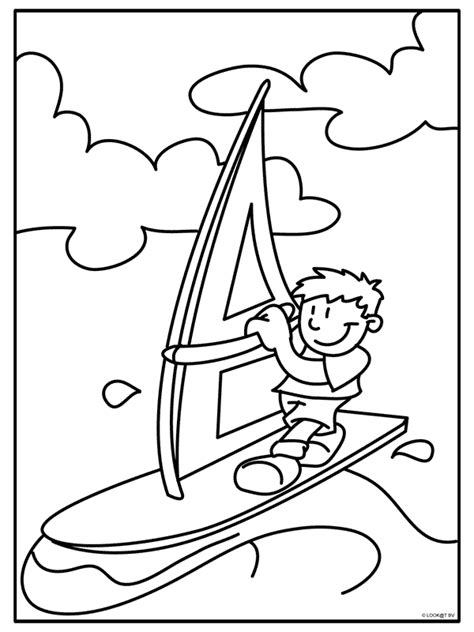 Kleurplaat Surfen kleurplaat surfen met een surfplank kleurplaten nl